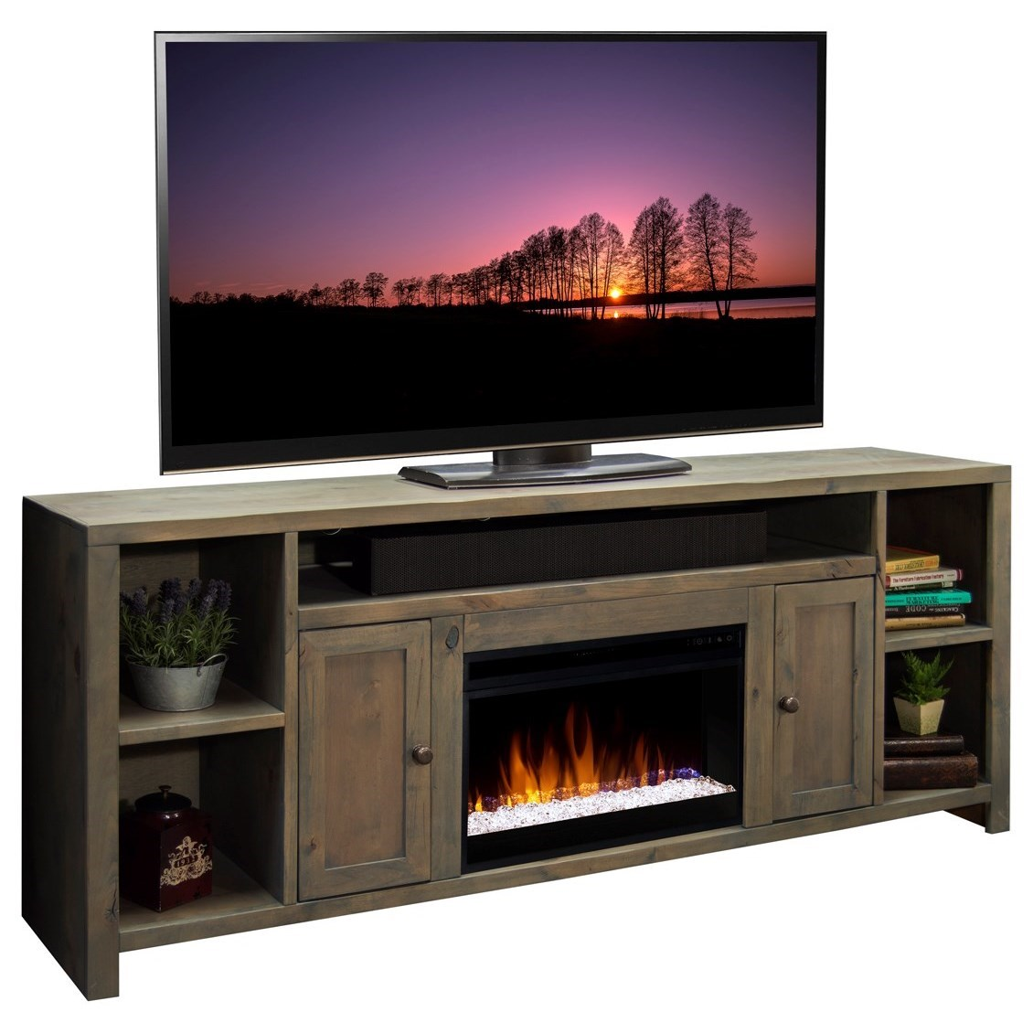 """Joshua Creek 84"""" Super Fireplace by Legends Furniture at Home Furnishings Direct"""