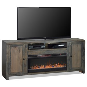 "Rustic 84"" Fireplace Console"