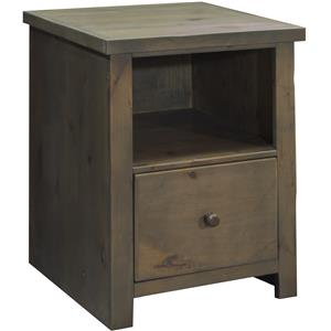 File Cabinet with Drawer and Shelf