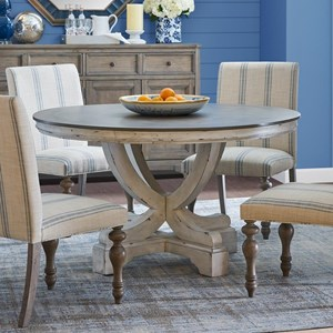 Two-Tone Pedestal Table