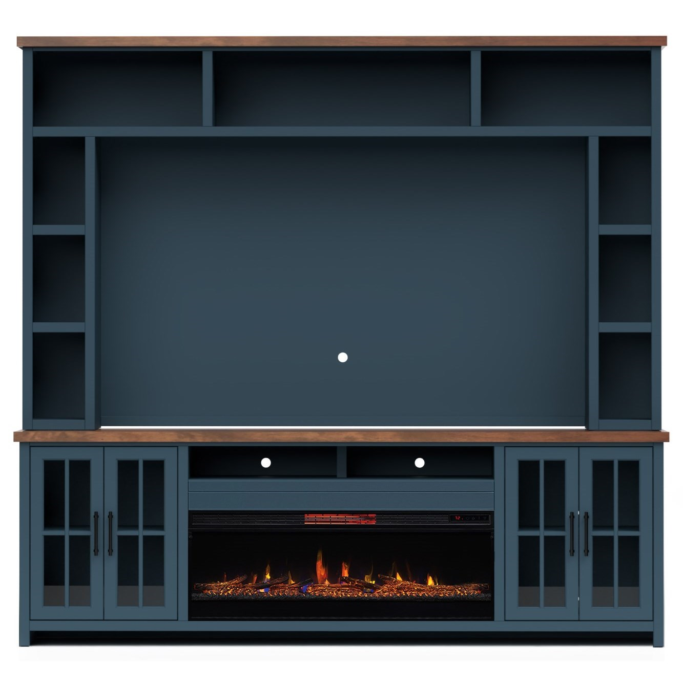 Nantucket Fireplace Entertainment Wall Unit by Legends Furniture at EFO Furniture Outlet