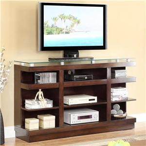 9-Shelf TV Stand with Glass Top