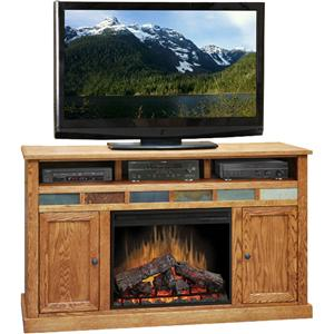 "Legends Furniture Oak Creek 62"" Fireplace Media Center"