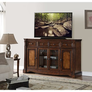 "Traditional Parliament 72"" TV Console with Distressed Finish"