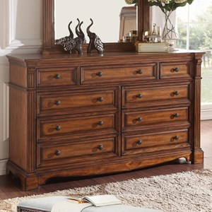 Traditional Parliament Dresser with 9-Drawers