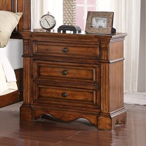 Traditional Parliament 3-Drawer Nightstand