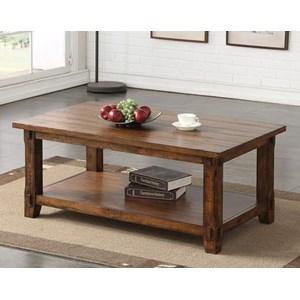 Restoration Coffee Table with Shelf