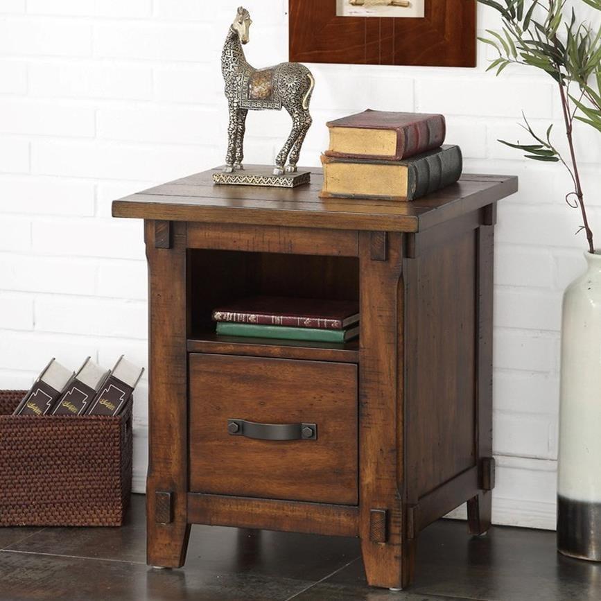 Restoration Restoration Rolling File Cabinet by Legends Furniture at EFO Furniture Outlet