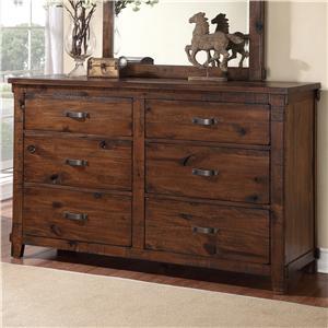 Rustic Restoration 6 Drawer Dresser