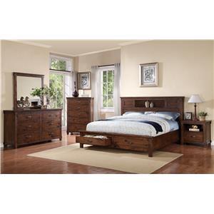 3 Piece Bedroom Set Includes Queen Bed, Dresser & Mirror