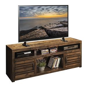 """Casual 73"""" TV Console with Carved Stripes"""