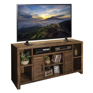 "Casual 64"" TV Console with Carved Stripes"