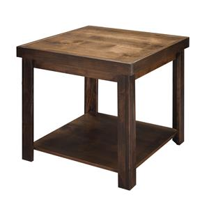 End Table in Whiskey Finish
