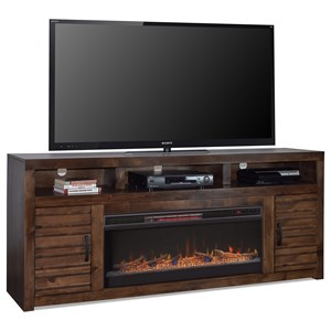 """78"""" TV Console with Storage and Fireplace Insert"""