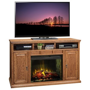 "63"" Fireplace Console with Two Doors"