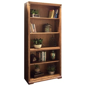 Bookcase with One Fixed and Three Adjustable Shelves