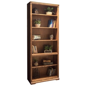 Bookcase with One Fixed and Four Adjustable Shelves