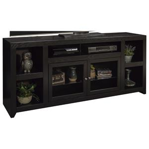 """75"""" TV Console with Two Glass Doors"""