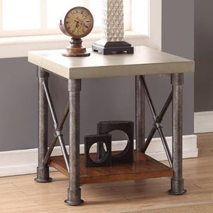 Legends Furniture Steampunk Collection Steampunk End Table