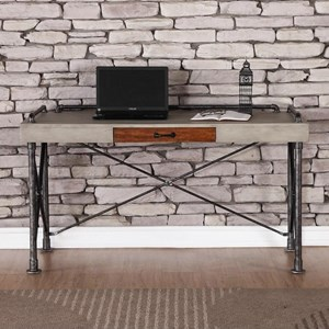 Steampunk Writing Desk with Faux Concrete Top