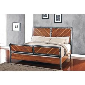 Legends Furniture Steampunk Collection Queen Steampunk Bed