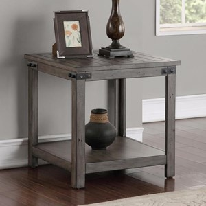 Storehouse End Table with Shelf