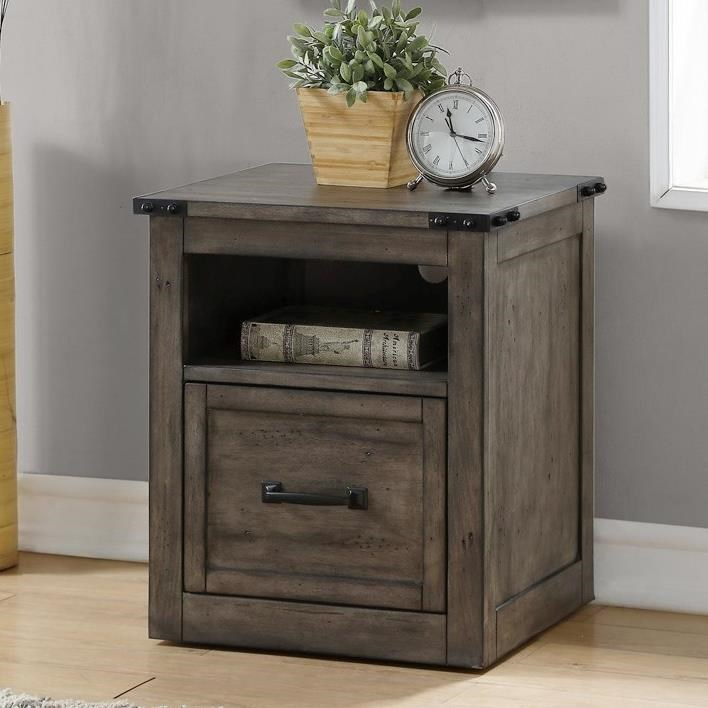 Storehouse Collection Storehouse Rolling File with Shelf by Legends Furniture at Home Furnishings Direct
