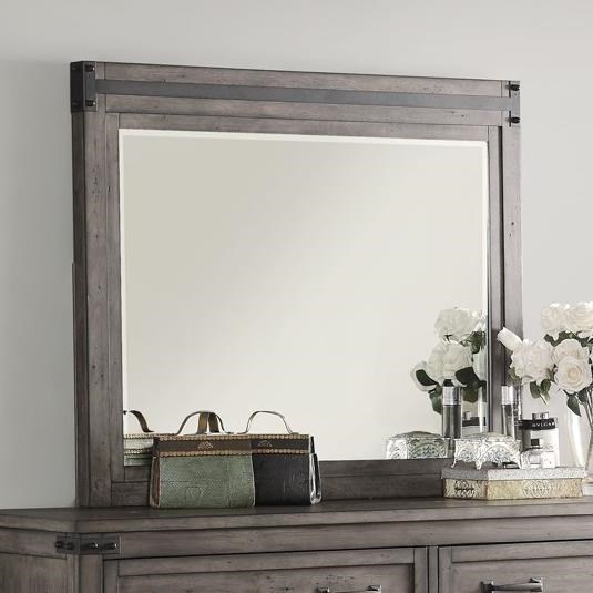 Storehouse Collection Storehouse Mirror with Wood Frame by Legends Furniture at Bullard Furniture