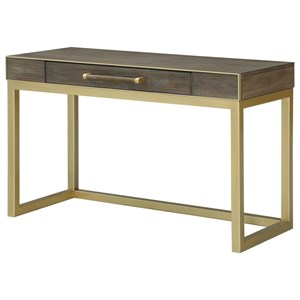 Contemporary Writing Desk with Center Drawer