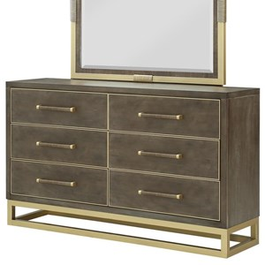 Contemporary Dresser with Felt Lined Top Drawers