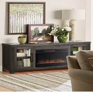 "Contemporary 86"" Fireplace Console"