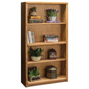 Bookcase With One Fixed and Two Adjustable Shelves