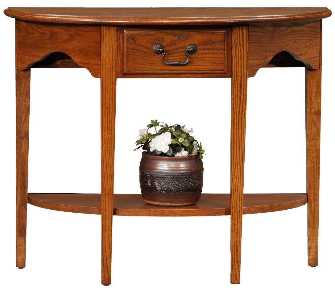 Favorite Finds Demilune Console by Leick Furniture at Lucas Furniture & Mattress