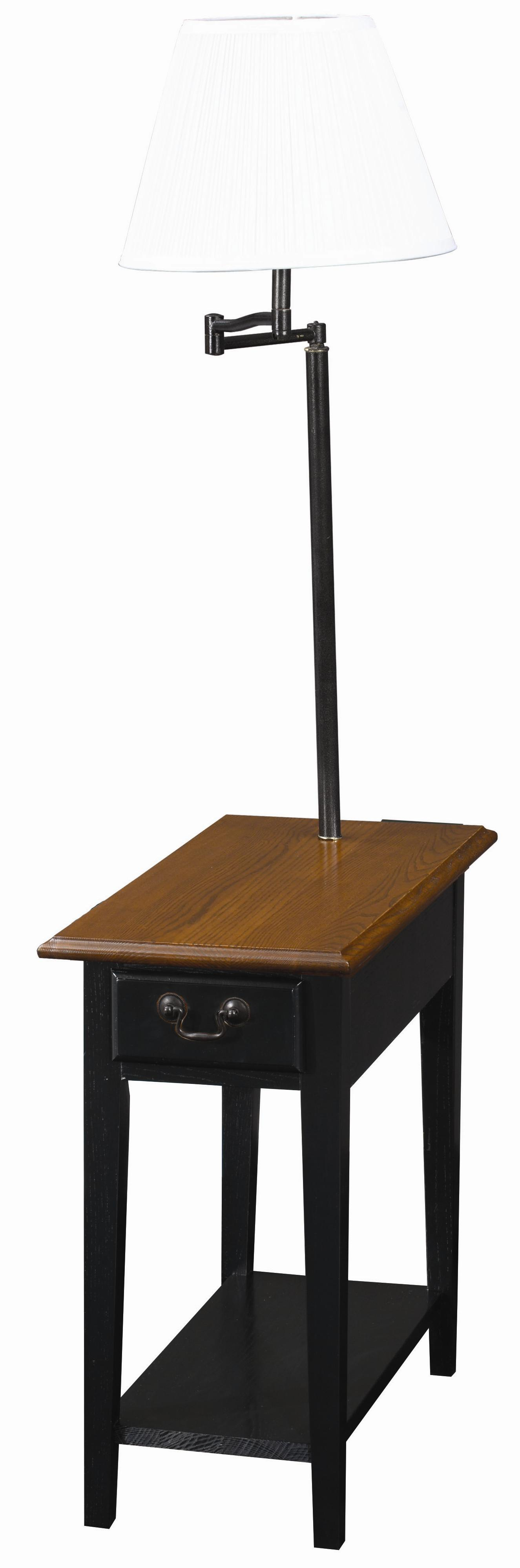 Favorite Finds Chairside Lamp Table by Leick Furniture at Lucas Furniture & Mattress