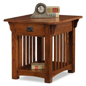 Leick Furniture Mission Impeccable Drawer End Table