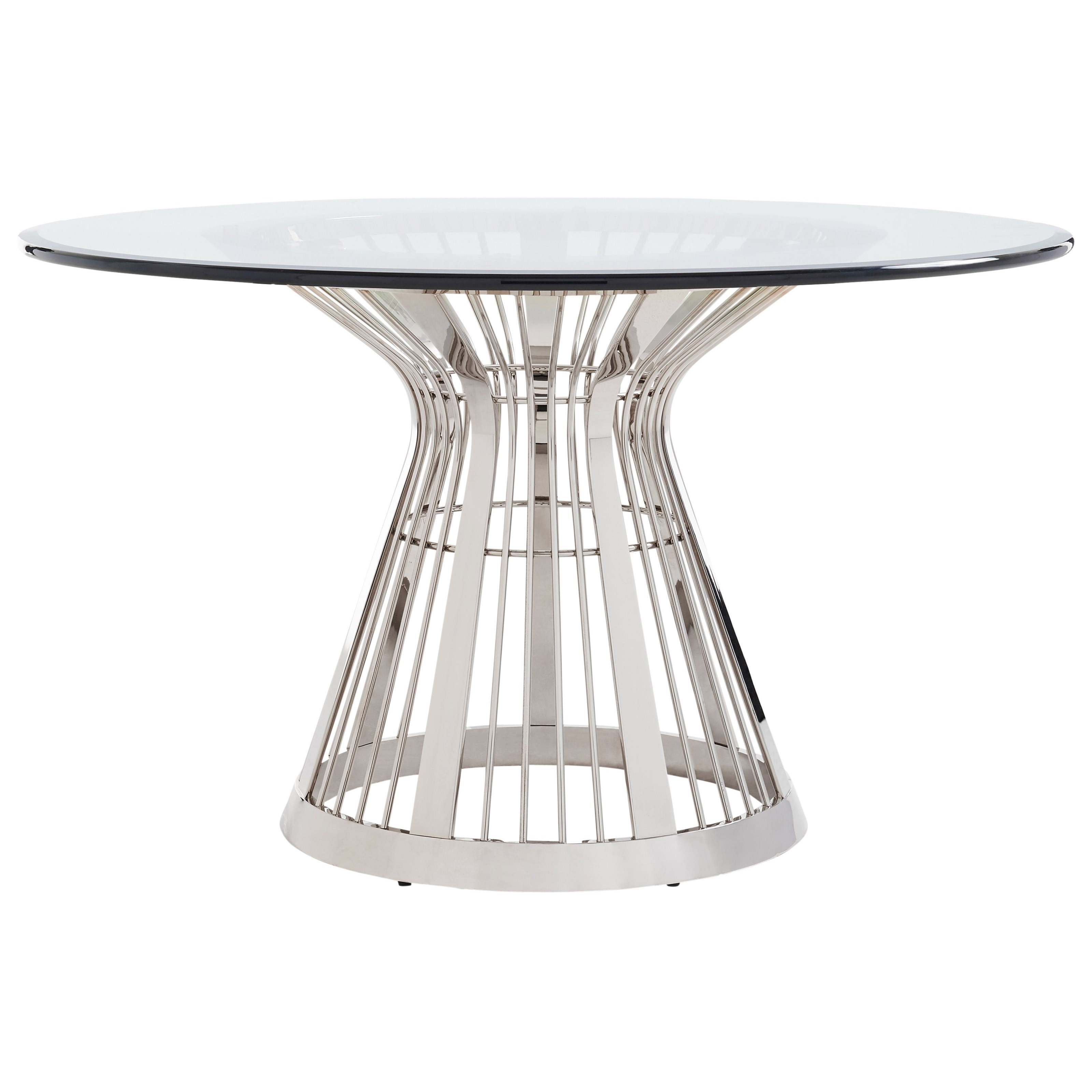 Ariana Riviera Stainless Dining Table Base With 54  by Lexington at Johnny Janosik