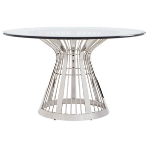 Riviera Stainless Dining Table Base With 54