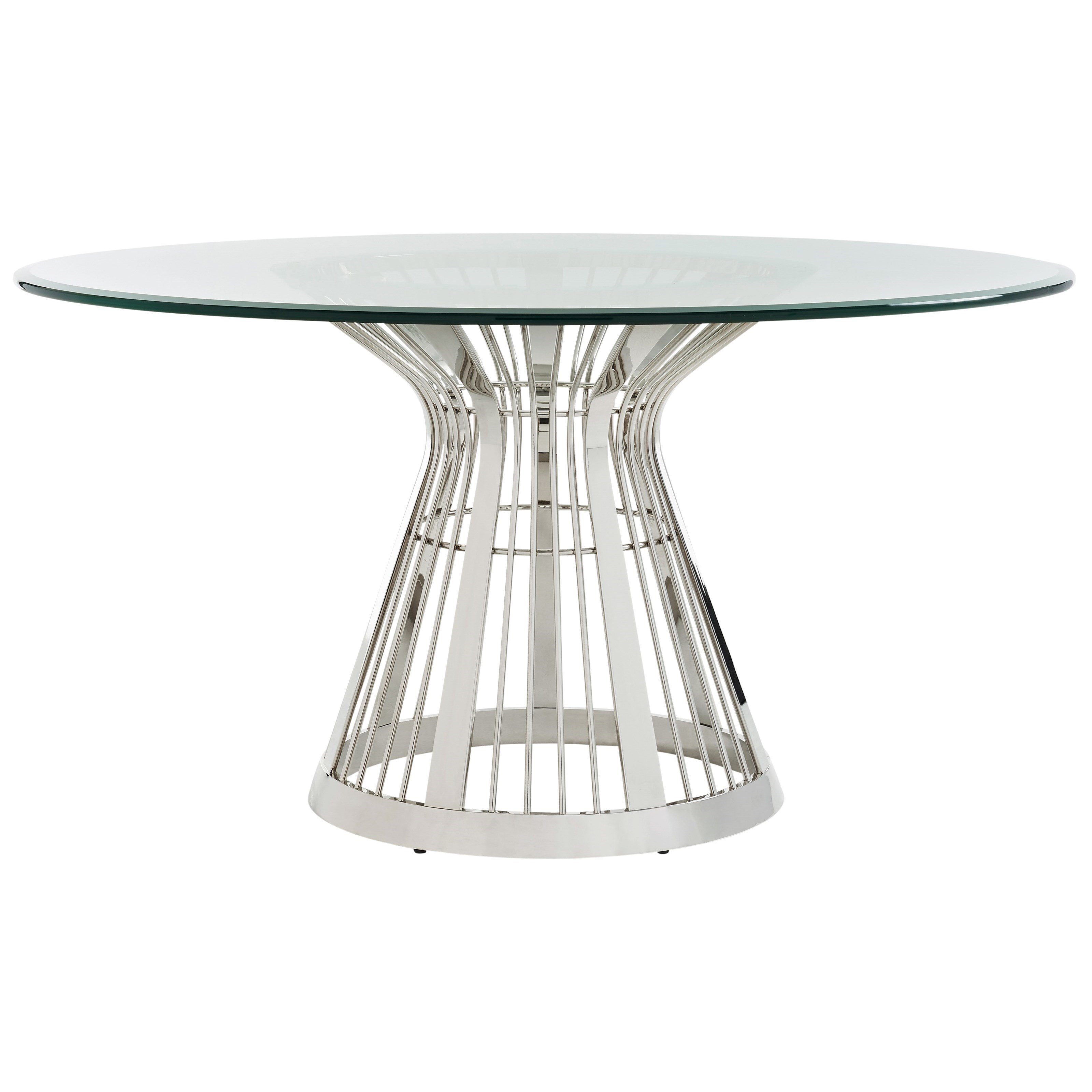 Ariana Riviera Stainless Dining Table Base With 60  by Lexington at Baer's Furniture