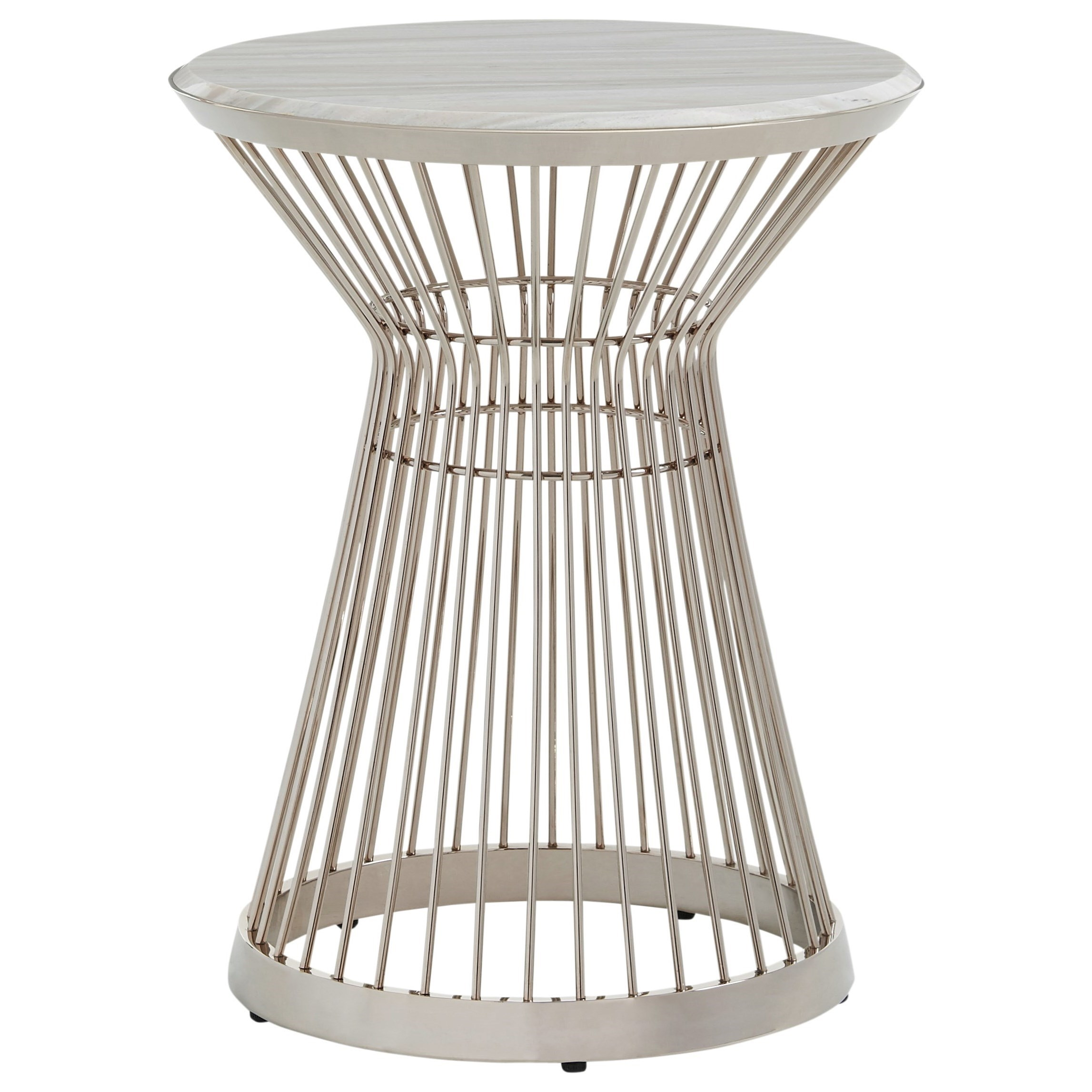 Ariana Martini Stainless Accent Table by Lexington at Johnny Janosik