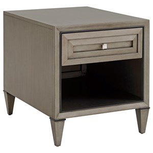 Verona End Table with One Drawer and One Shelf
