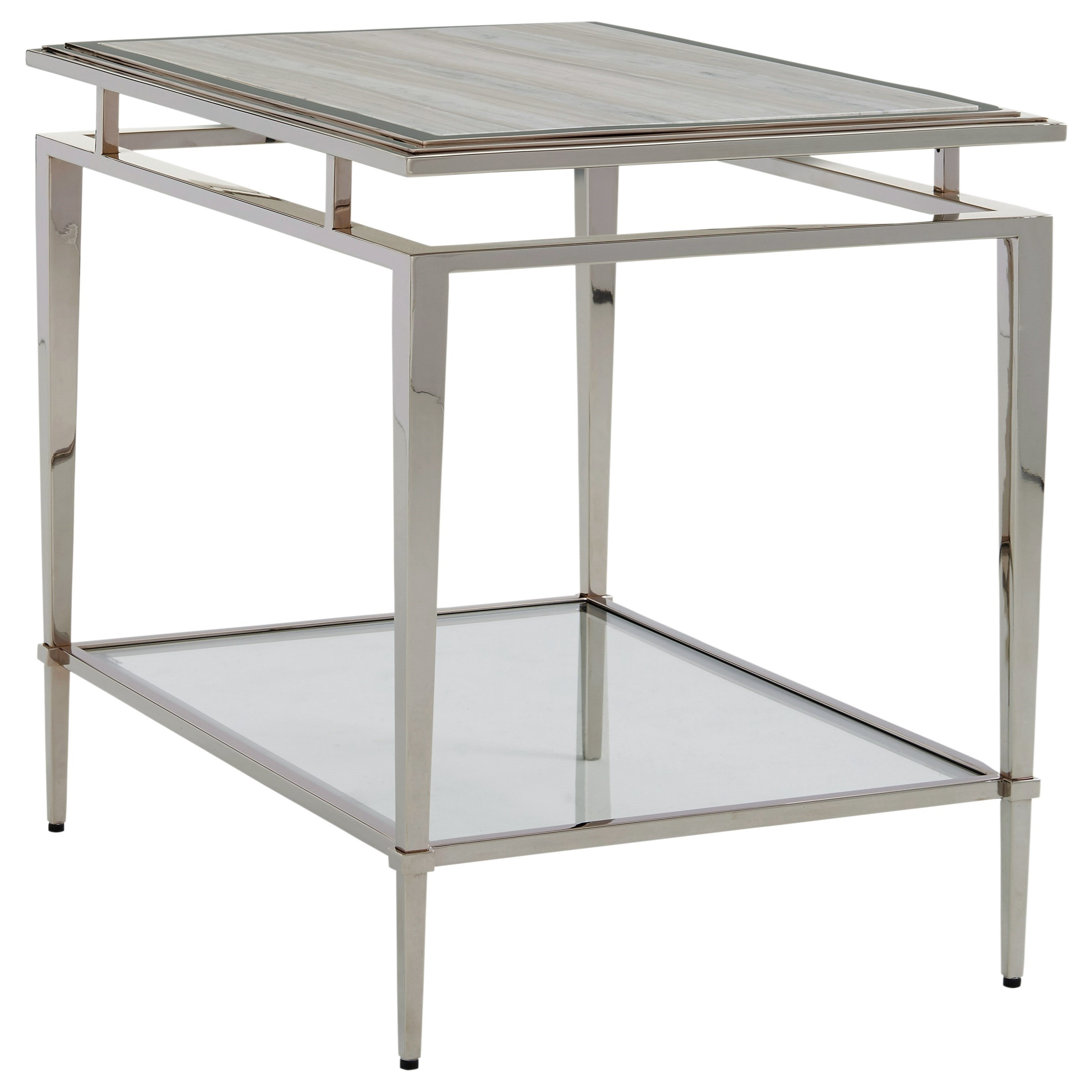 Ariana Athene Stainless End Table by Lexington at Baer's Furniture