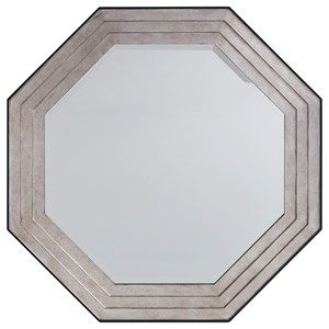 Latour Octagonal Mirror with Silver Leaf Detail