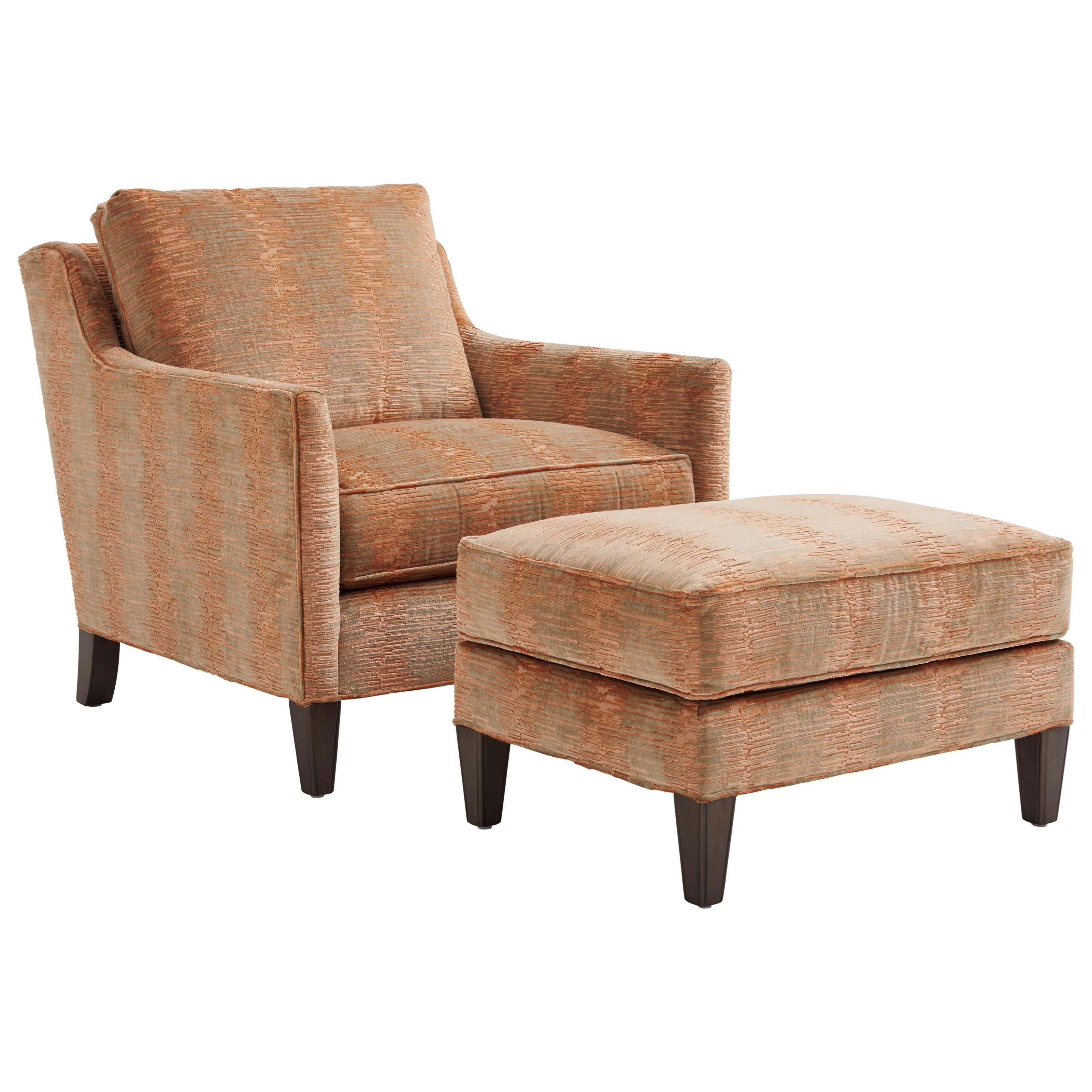 Ariana Turin Chair & Ottoman by Lexington at Baer's Furniture