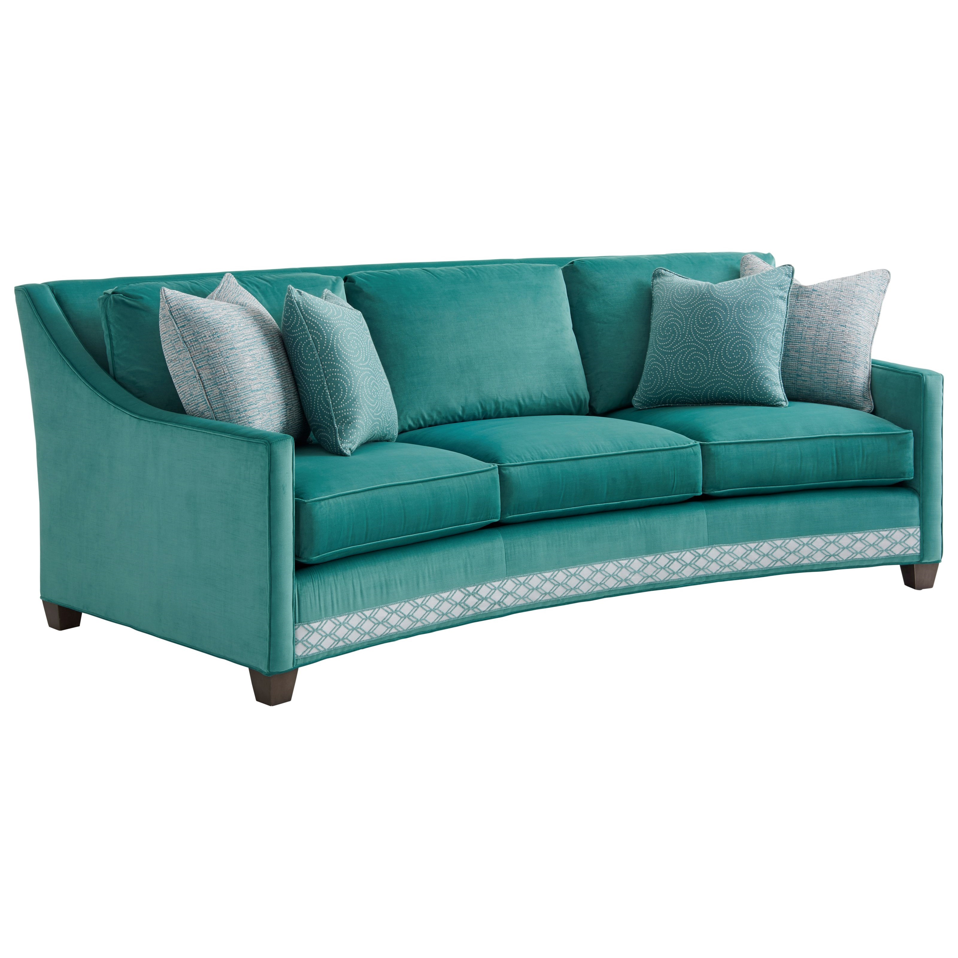 Ariana Valenza Curved Sofa by Lexington at Fisher Home Furnishings