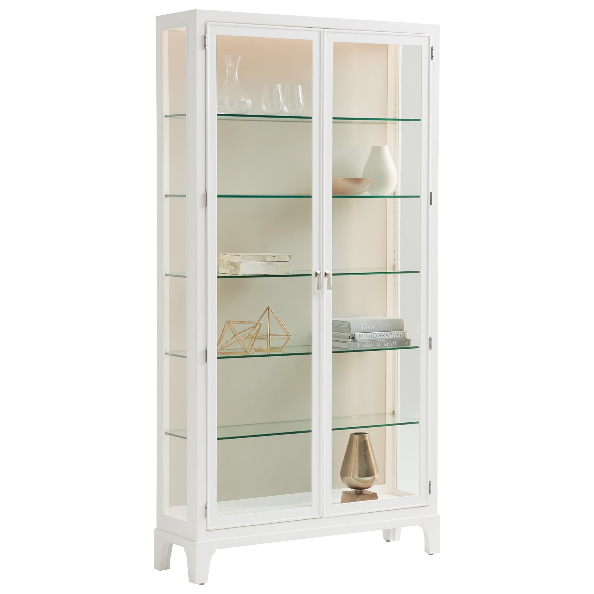 Avondale Lakeshore Curio Taupe Back Panel by Lexington at Fisher Home Furnishings