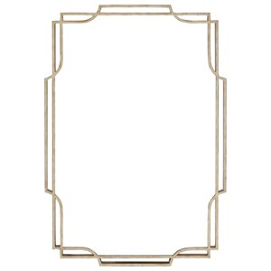 Harwood Metal Mirror with Antiqued Silver Leaf Frame