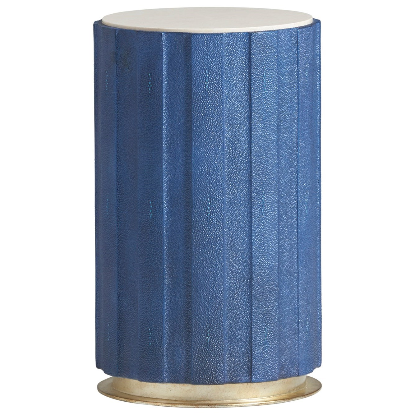 Carlyle Chelsea Cobalt Shagreen Accent Table by Lexington at Baer's Furniture