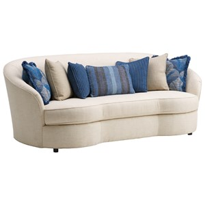 Whitney Kidney Sofa with Scattered Back Pillows