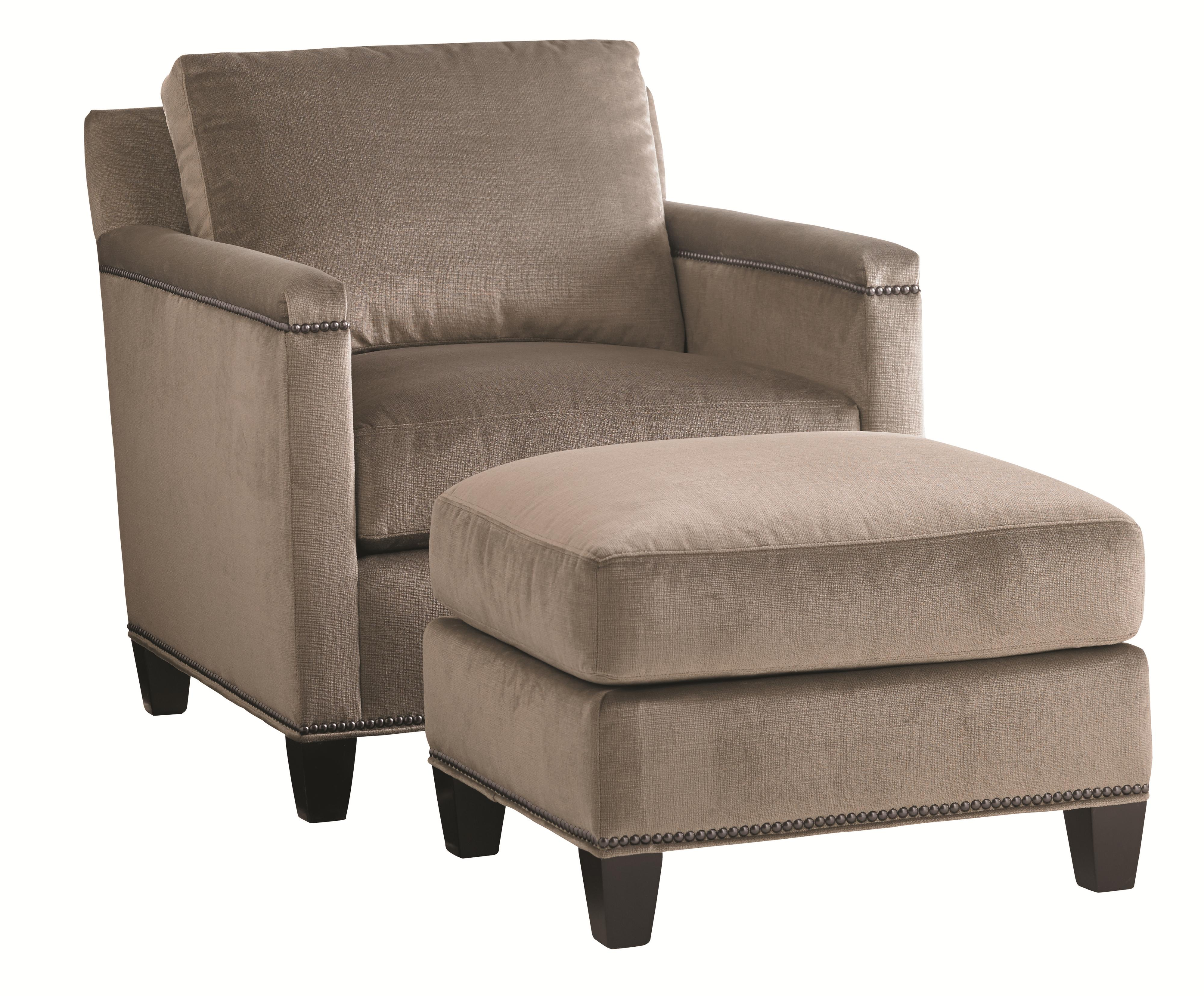 Carrera Stationary Chair and Ottoman Set by Lexington at Malouf Furniture Co.