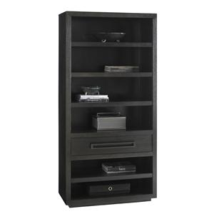 Rossa Bookcase with Adjustable Shelves and Closed Storage Drawer